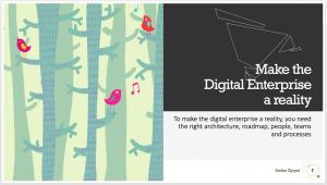 Digital enterprise requirements - architecture, roadmap, people, teams, processes